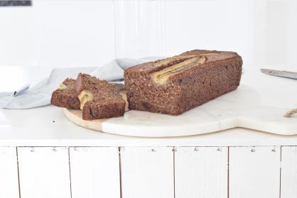Chocolade bananenbrood met courgette en choco chunks