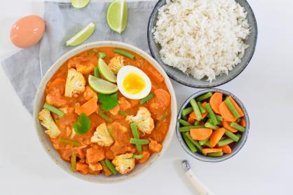 Makkelijke en voedzame bloemkool curry