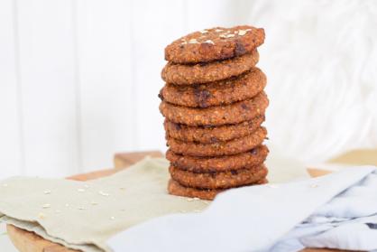 Havermout koeken met chocolade en noten (high tea)