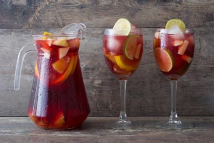 Sangria met vers fruit