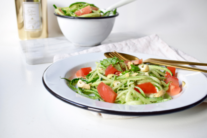 Courgetti met cashew dressing