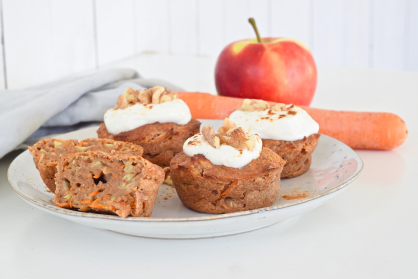 Carrot muffins met appel (high tea)