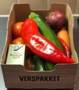 Biologische aardappels, groente, fruit
