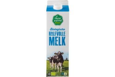 Biologische Halfvolle Melk Half Litertje (Vecozuivel, 500 ml)