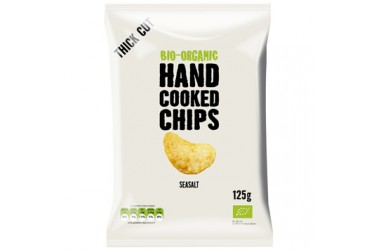 Biologische Handcooked Chips Seasalt (Trafo, 125 gram)