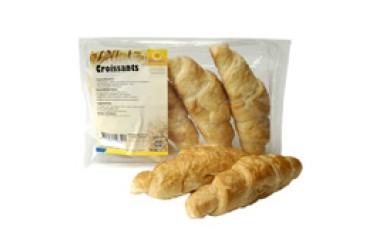 Biologische Croissants Roomboter Afbak (Zonnemaire, 4 stuks)