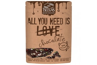 Biologische Chocobrokken All You Need Is Chocolate (Belvas, 120 gram)