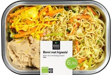 Biologische Bami met kipsaté, atjar en roerbakgroente (EKOcuisine, 450 gram)
