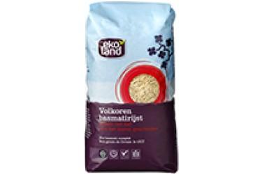 Biologische Basmatirijst Volkoren (Ekoland, 1000 gram)