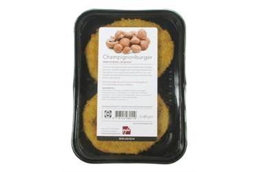 Biologische Champignonburger (Paddenstoel, 160 gram)