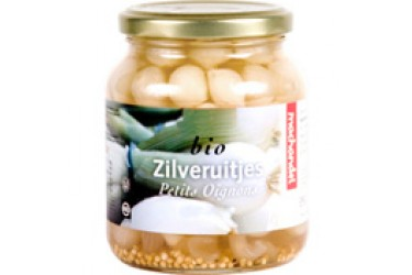 Biologische Zilveruitjes zoetzuur (Machandel, 340 ml)