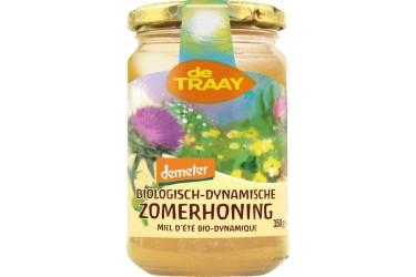 Biologische Bloemenhoning Creme Demeter (De Traay, 350 gram)
