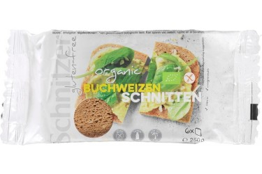Biologisch Boekweit Brood Glutenvrij (Schnitzer, 250 gram)