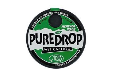 Biologische Cachou Laurierdropjes Menthol (Puredrop, 13 gram) OP=OP