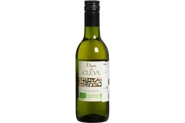 Biologische Witte Wijn Dame de Cleve klein flesje Voordeelverpakking (12 x 250 ml)