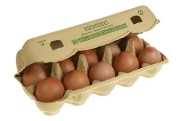 Biologische Eieren (Biomeerwaardekip, 10 stuks)