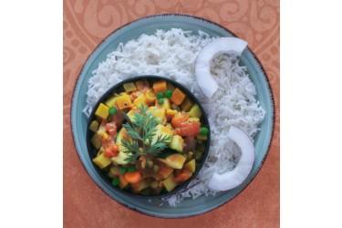 Biologische Ayurvedische Groenteschotel met Basmatirijst(Lunch Vegaz, 400 gram)