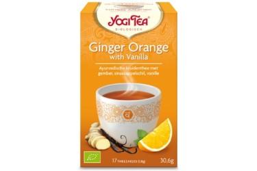Biologische Thee Ginger Orange Vanilla (Yogi Tea, 17 builtjes)