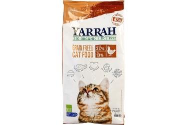 Biologische Droogvoer Graanvrij met Kip & Vis voor katten Voordeelverpakking (Yarrah, 6 x 800 gram)
