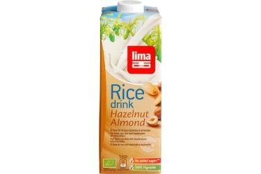Biologische Rijstdrank Hazelnoot-Amandel (Lima, 1 liter)