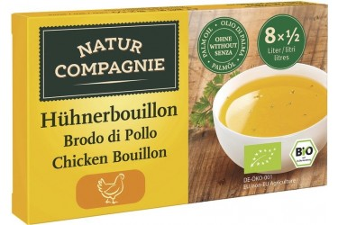 **Biologische Kippenbouillonblokjes (Natur Compagnie, 80 gram)