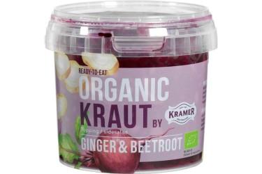 Biologische Kimchi Gefermenteerde kool-gember-rode biet (Kramer, 300 gram)