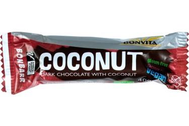 Biologische Kokosbar Puur (Bonvita, 40 gram)
