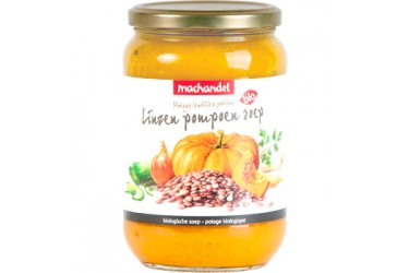 Biologische Linzen-Pompoensoep (Machandel, 720 ml)