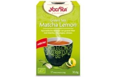 Biologische Green Matcha Lemon Tea (Yogi Tea, 17 zakjes)