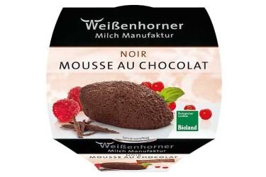 Biologische Mousse au chocolat noir (Weissenhorner, 80 gram)