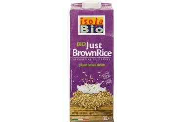 Biologische Rijstdrink Bruin Voordeelverpakking (Isola Bio, 6 x 1 liter)