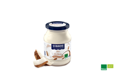 Biologische Yoghurt met Kokos (Andechser, 500 gram)