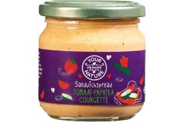 Biologische Sandwichspread Tomaa-Paprika-Courgette (Your Organic Nature, 180 gram)