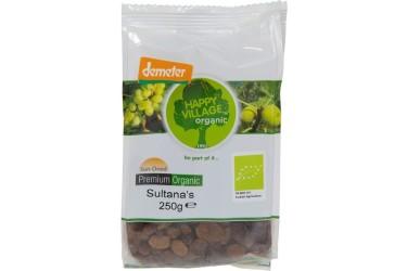 Biologische Rozijnen Sultana Voordeelverpakking (Happy Village, 10 x 250 gram)