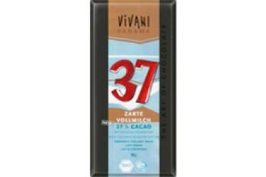 Biologische Chocoladetablet Melk 37% Cacao (Vivani, 80 gram)