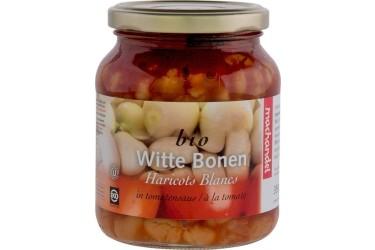 Biologische Witte Bonen In Tomatensaus (Machandel, 350 ml)