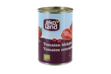 Biologische Blokjes Tomaten (Ekoland, 400 gram)