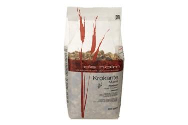 Biologische Muesli Krokant Met Rozijnen Voordeelverpakking (De Halm, 6 x 500 gram)