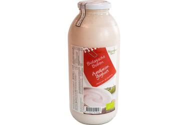 Biologische Aardbeienyoghurt fles (Weerribben Zuivel, 1 liter)
