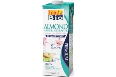 Biologische Amandeldrink zonder suiker grootverpakking  (Isola Bio, 6 x 1 liter)