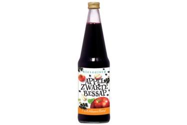 Biologische Appel-Zwarte Bessensap (De Nieuwe Band, 700 ml)