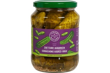** Augurken Zoet-Zuur (Your Organic Nature, 670 ml)