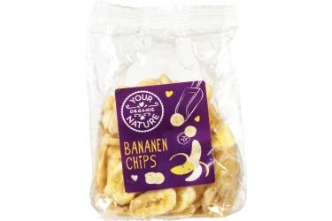 Biologische Bananenchips Voordeelverpakking (Your Organic Nature, 6 x 160 gram)