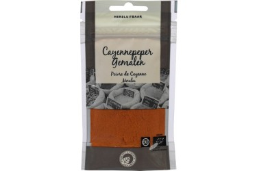 Biologische Cayennepeper Gemalen Voordeelverpakking (Organic Flavour Company, 10 x 25 gram)