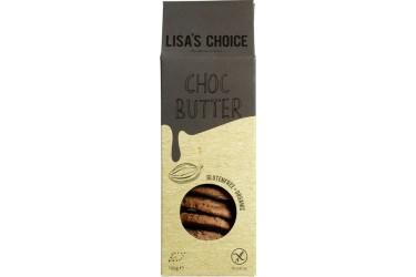 Biologische Choc Butter Cookies Glutenvrij Voordeelverpakking (Lisa's Choice, 6x100 gram)