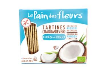 Biologische Krokante Crackers Kokos Voordeelverpakking (Pain des Fleurs, 12 x 150 gram)