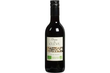 Biologische Rode Wijn Dame de Cleve klein flesje Voordeelverpakking (12 x 250 ml)