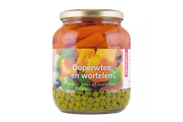 Biologische Doperwten En Wortel  (Machandel, 680 ml)