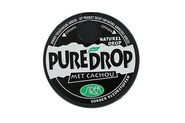Biologische Cachou Laurierdropjes Naturel (Puredrop, 13 gram)