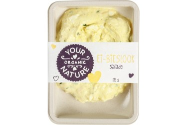 Biologische Ei-Bieslook Salade (Your Organic Nature, 125 gram)